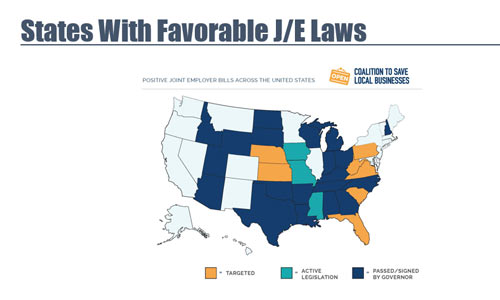 states with favorable joint employer laws
